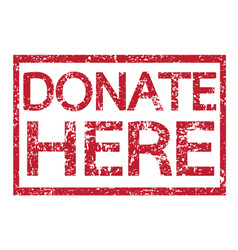 stamp text donate here vector image