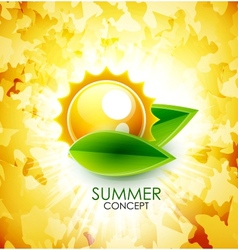 Summer leaf shiny background vector