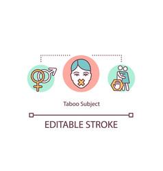 Taboo subject concept icon vector