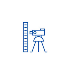 Theodolite survey calculation line icon concept vector