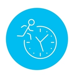 Time management line icon vector image