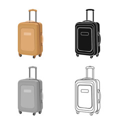 travel luggage icon in cartoon style isolated on vector image vector image