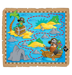 Treasure map theme image 7 vector