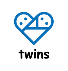 Twins icon on white background vector