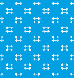 two dumbbells pattern seamless blue vector image