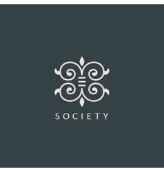Vintage luxury emblem Elegant Calligraphic vector image