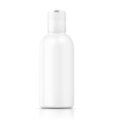 White lotion bottle template vector