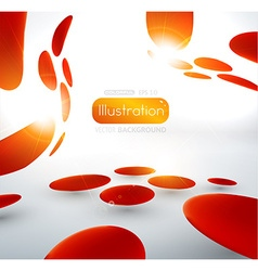 Abstract red spotted backdrop vector