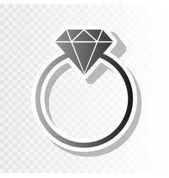 diamond sign new year vector image