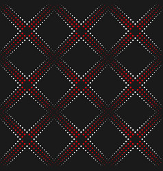 Dotted line geometric seamless pattern vector