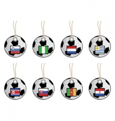 football flag tags vector image vector image
