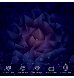 Geometric Dark Background vector image