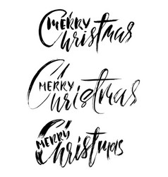 hand drawn calligraphy set merry christmas vector image vector image