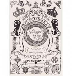 Valentine's design elements vector image vector image