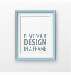 Vertical frame mock up on transparence background vector