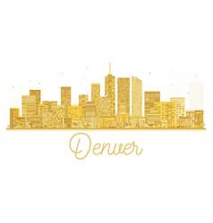 denver usa city skyline golden silhouette vector image