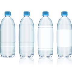 Four Plastic Bottles with Generic Labels vector image vector image
