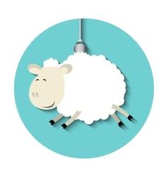 funny sheep vector image