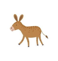 Brown Spotted Donkey Walking vector image vector image
