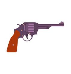 gun retro art vintage revolver pistol weapon vector image