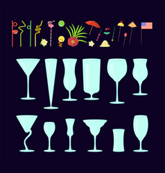 cocktail drink decoration vector image