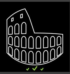 coliseum it is white icon vector image