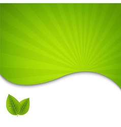 Eco Green Leaves Poster vector image vector image