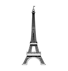 eiffel tower isolated icon vector image vector image