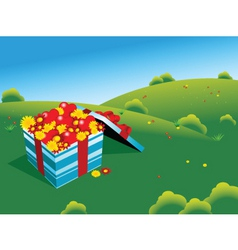 flower field vector image vector image