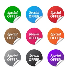 Special offer stickers vector image vector image