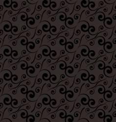 swirl repeat black vector image vector image