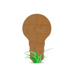 wooden form lamp idea vector image