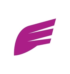 Abstract purple wing icon simple style vector