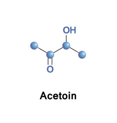 acetoin acetyl methyl carbinol vector image