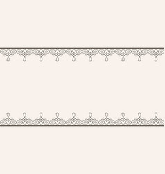 backdrop with borders in calligraphic retro style vector image