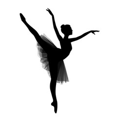 Ballerina on white background vector