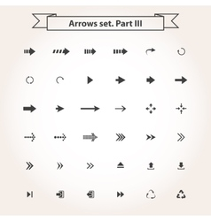 Big black set arrows vector image