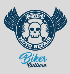 biker culture badge and patch vector image