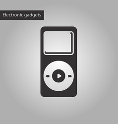 Black and white style icon music player vector