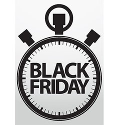 Black fridaystopwatch icon vector image