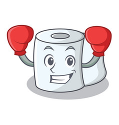 Boxing tissue character cartoon style vector