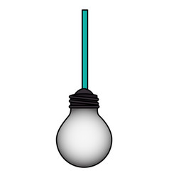 Bulb light hanging isolated icon vector