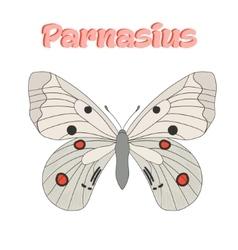 Butterfly parnasius vector
