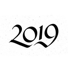 calligraphy for 2019 new year of the pig vector image