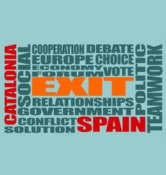 Catalonia exit from spain vector