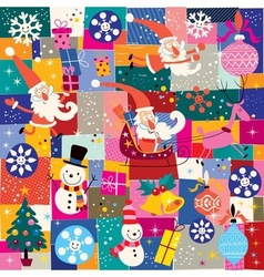 Christmas pattern 9 vector image vector image