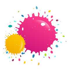 colorful splashes background vector image
