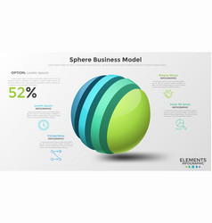 Concept of sphere business model vector
