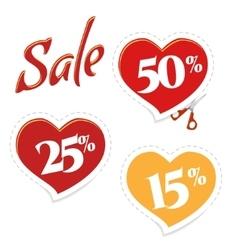 Cut Cupid for discounts vector