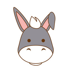 Cute mule character icon vector